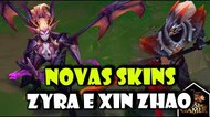 Xin Zhao Matador de Dragões e Zyra Encantadora de Dragões -  League of Legends