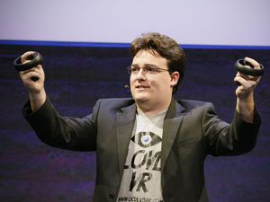 Oculus cofounder Palmer Luckey is back. And it's weird