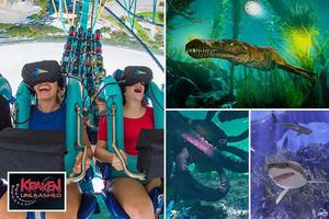 SeaWorld's new ride combines virtual reality and a REAL roller coaster for a deep sea thriller