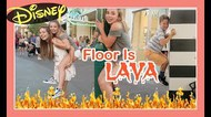 THE FLOOR IS LAVA at DOWNTOWN DISNEY | Flippin' Katie