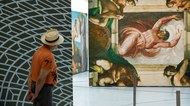 Michelangelo's Anxious, Modern Faces, at the Sistine Chapel in the Oculus