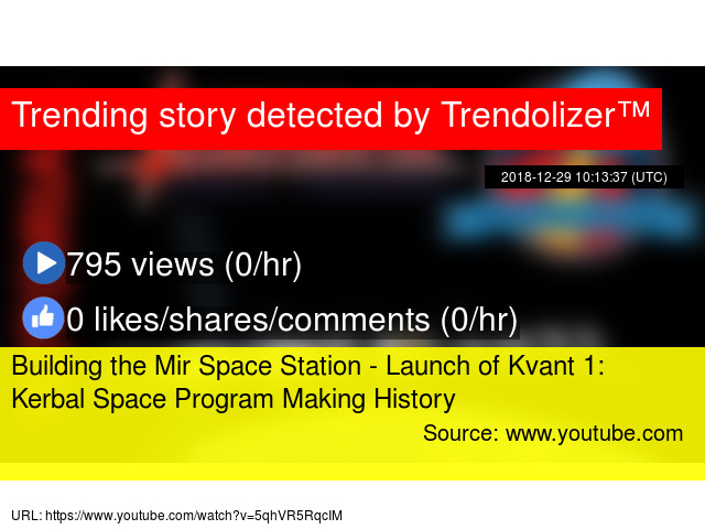 Building the Mir Space Station - Launch of Kvant 1: Kerbal
