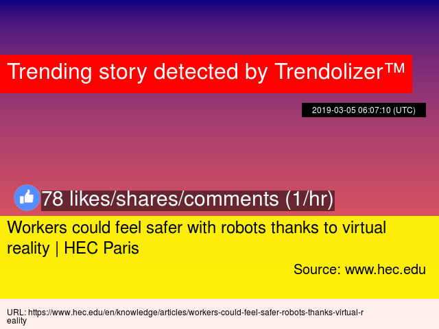 e73d46fdec9a Workers could feel safer with robots thanks to virtual reality
