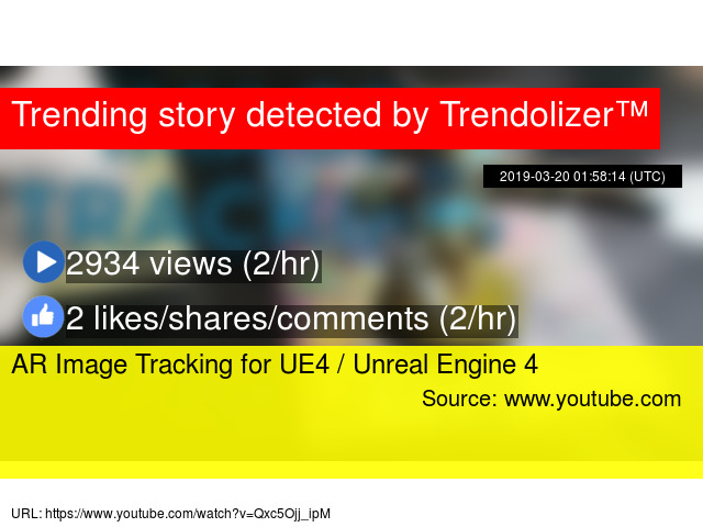 AR Image Tracking for UE4 / Unreal Engine 4