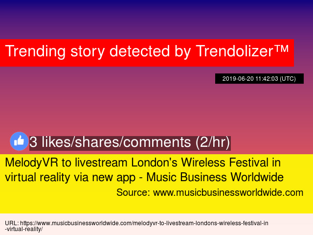 MelodyVR to livestream London'
