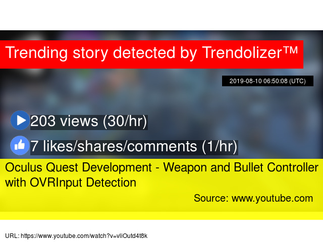 Oculus Quest Development - Weapon and Bullet Controller with