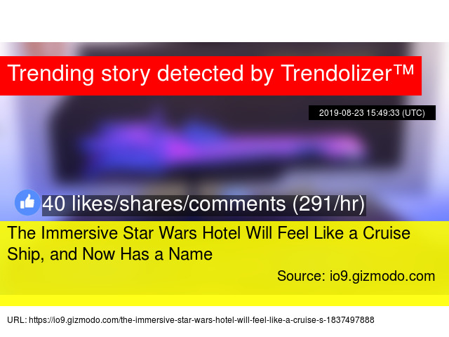 The Immersive Star Wars Hotel Will Feel Like a Cruise Ship