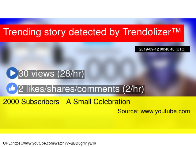 2000 Subscribers - A Small Celebration