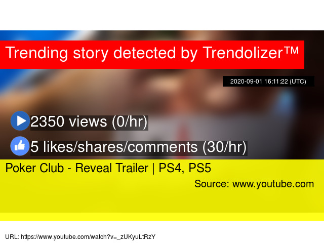 Poker Club Reveal Trailer Ps4 Ps5
