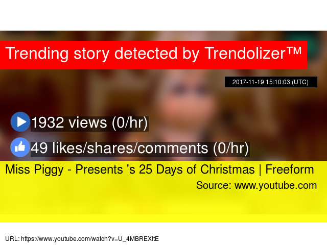 miss piggy presents s 25 days of christmas freeform