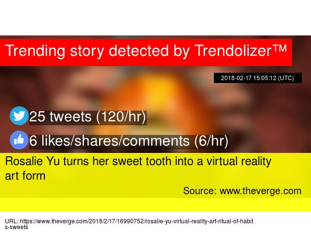 rosalie yu turns her sweet tooth into a virtual reality art form