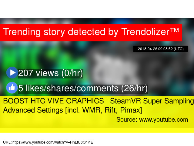 BOOST HTC VIVE GRAPHICS | SteamVR Super Sampling + Advanced