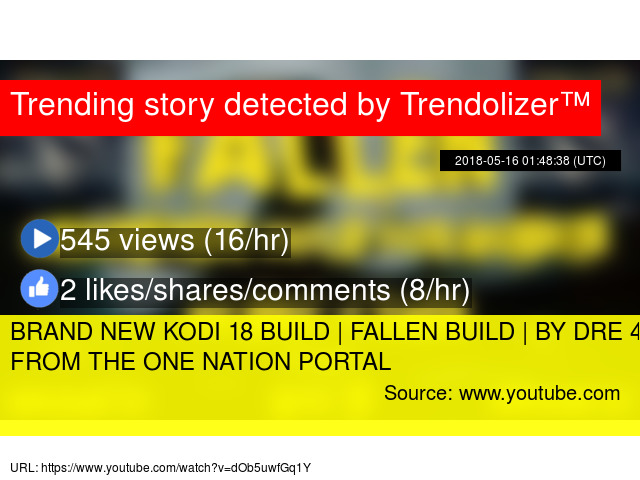 BRAND NEW KODI 18 BUILD | FALLEN BUILD | BY DRE 4 EVER FROM THE ONE