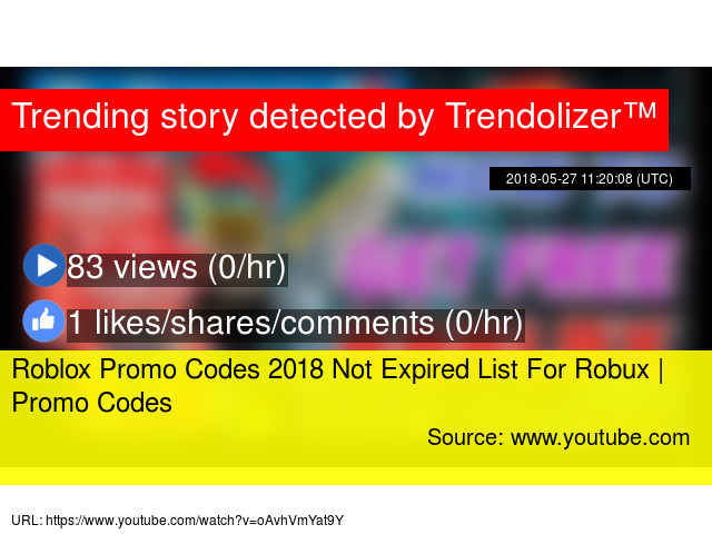 Roblox Promo Codes 2018 Not Expired List For Robux Promo Codes