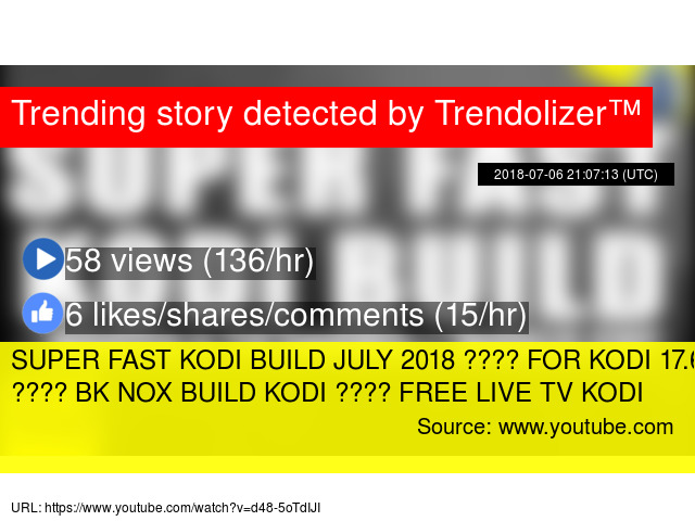 SUPER FAST KODI BUILD JULY 2018 ???? FOR KODI 17 6 BUILS