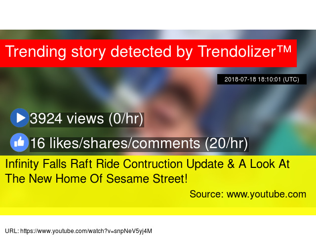 Infinity Falls Raft Ride Contruction Update & A Look At The