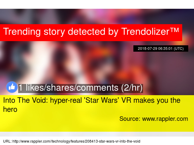 e3c407c14b6c Into The Void  hyper-real   039 Star Wars  039  VR makes you the hero