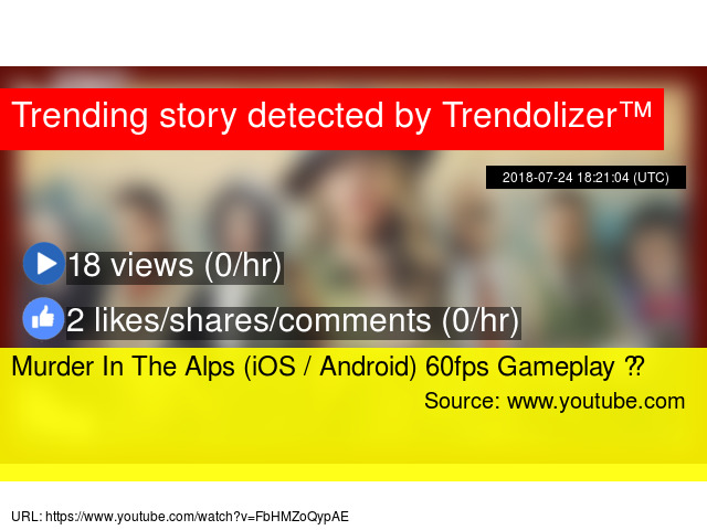 Murder In The Alps (iOS / Android) 60fps Gameplay ᴴᴰ