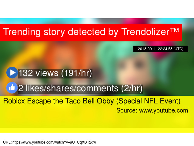 Roblox Escape the Taco Bell Obby (Special NFL Event)