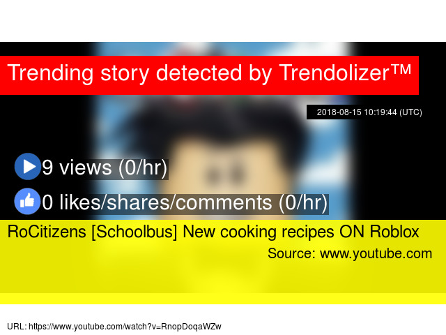 RoCitizens [Schoolbus] New cooking recipes ON Roblox