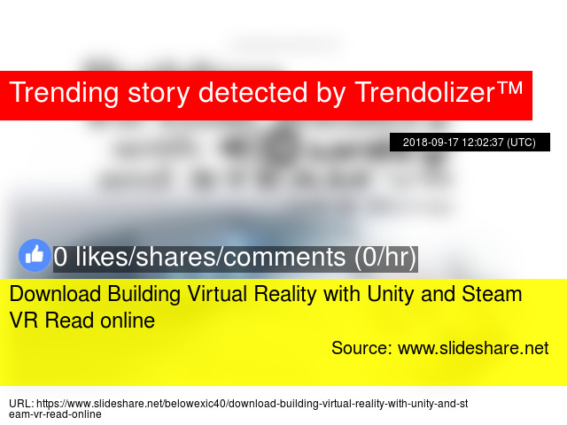 Download Building Virtual Reality with Unity and Steam VR