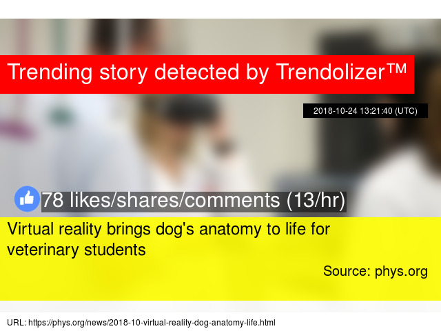Virtual Reality Brings Dogs Anatomy To Life For Veterinary Students